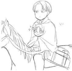 Shingeki no Kyojin (Attack on Titan) Levi and Eren