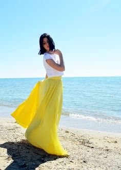 Yellow Chiffon Skirt, Woman Wedding Skirt, Maxi Skirt, Engagment Skirt, Bridesmaids Chiffon Skirt, Women Chiffon Skirt, Bridal Skirt Chiffon Yellow Maxi Skirts, Yellow Dress, Maxi Dresses, Bridal Skirts, Wedding Skirt, Wedding Dresses, Most Beautiful Dresses, Party Skirt, Chiffon Skirt