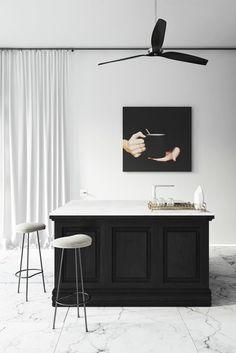 kitchen render - apartment in Barcelona designed by Katty Schiebeck
