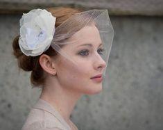 wedding veil for short hair