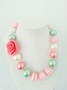 Toddler Jewelry, Kids Jewelry, Jewelry Making, Chunky Bead Necklaces, Chunky Beads, Kids Necklace, Girls Necklaces, Space Jewelry, Jewelry Design