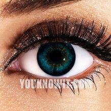 Aqua 3 Tone Funky Eyes Contact Lenses (Pair)