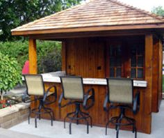 Shed With Bar Backyard Patio Sheds Deck Pool