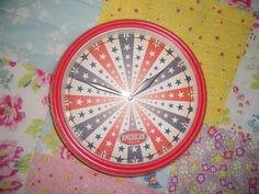 Red Vintage 'American Originals' 50's Inspired clock by Wondarlust, £15.00