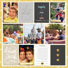 Happy at Disney Project Life layout using Project Mouse: Beginnings Kit and Journal Cards by Sahlin Studio and Britt-ish Designs