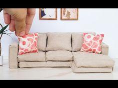 DIY Dollhouse Miniature Modern Sofa Tutorial - Dolls, Nendoroid, LPS - YouTube