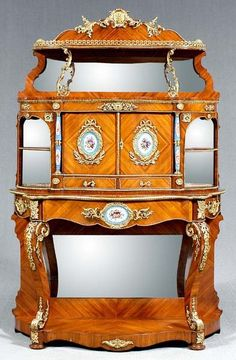 967: Louis XV style cabinet, Sevres mounts, :  🔹🔶Louis XV French Style  ( 1710 –1774) : More At FOSTERGINGER @ Pinterest 🔹🔶