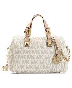 MICHAEL Michael Kors Handbag, Grayson Monogram Medium Satchel - Michael Kors Handbags - Handbags & Accessories - Macy's