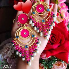 🌟 To buy this dm or whatsapp Indian Earrings, Fasion, Chokers, Bangles, Bag, Accessories, Stuff To Buy, Jewelry, Videos