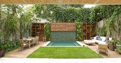 Paisagismo - a sabedoria atrás da arte de criar jardins - Vale Decorado - Arquitetura Outdoor Plants, Outdoor Rooms, Outdoor Gardens, Outdoor Living, Outdoor Decor, Small Backyard Pools, Small Pools, Home Landscaping, Small Gardens