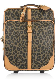 10728a092901 Mulberry - Leopard Trolley scotch grain suitcase