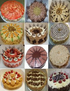 A selection of cakes I did in 2009 in my Tafe class