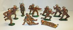Vintage Barclay Manoil Lead Toy Soldiers