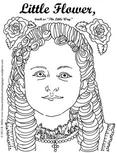 little flower saint therese of lisieux coloring page - Father Coloring Page Catholic