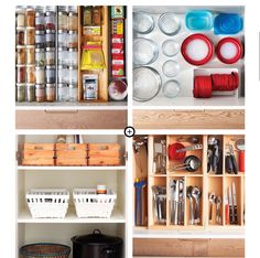 """Organize your kitchen: key word is """"compartments"""
