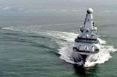 Royal Navy Type 45 Destroyer HMS Dragon by Defence Images