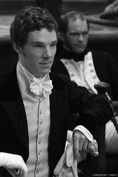 """the expression on the gentleman behind him is how I imagine most men look when they see Benedict surrounded by hordes of fangirls :). Kind of a """"WTF does he have, I don't get it?"""" Look <--- lol!"""