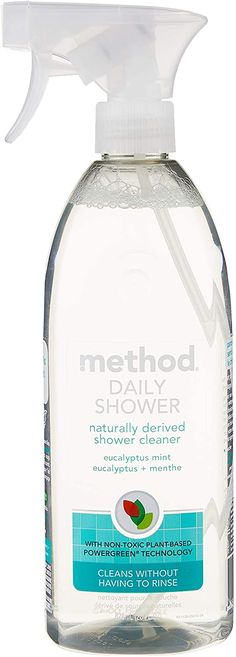 Method Daily Shower Spray, Eucalyptus Mint, 28 Ounce (Packaging May Vary) Daily Shower Spray, Pee Smell, Cleaning Items, Shower Cleaner, Shower Tub, Spray Bottle, Biodegradable Products, Mint, Packaging