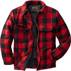 Legendary Whitetails Outdoorsman Buffalo Jacket Plaid X-Large Coats Jackets Buffalo Jacket, Buffalo Plaid, Flannel Jacket, Mens Flannel Shirt, Plaid Jacket Mens, Quilted Jacket, Cuir Vintage, Style Masculin, Herren Style