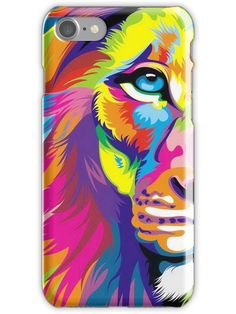 Multicolored Lion iPhone Case & Cover