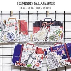 Travel Around the World Decoration Stickers (45pcs in 1 box)  3.99  travel   dfcecafa20a1