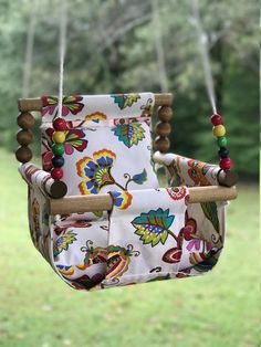 [sc [sc ***This listing is a for the baby swing. These cloth swings are great additions to your backyard, porch, playroom, or nursery for year around fun! This is intended to be used inside or outside! Baby Shower Presents, Baby Presents, Baby Shower Gifts, Best Birthday Gifts, Birthday Fun, Patio Swing, Outdoor Baby Swing, Diy Bebe, Shower Bebe