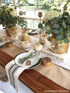 These gorgeous Thanksgiving tables are all different styles, but they all have one thing in common: they're gorgeous, creative, and unique.