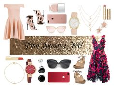 """""""That Summer Feel"""" by jessieg12377 ❤ liked on Polyvore featuring Notte by Marchesa, Boohoo, Giuseppe Zanotti, MICHAEL Michael Kors, Belkin, Nine West, NAKAMOL, Nails Inc. and Stila"""