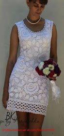 crochelinhasagulhas: Vestido com flores em crochê