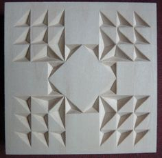 Chip Carving Class - Quilt Squares Post pics of your square(s) HERE! Dremel Carving, Crochet Coaster Pattern, Chip Carving, 3d Quilts, Wood Carving Patterns, Whittling, Woodcarving, Square Quilt, Kaftan