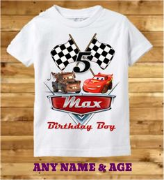 Disney Cars Birthday Shirt Cars Birthday by PreciousCreations7
