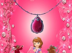Sofia, Jaq and Gus Near At Sofia's Pink Amulet