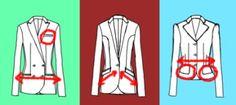 Die Platzierung der Taschen eines Blazers kann Ihre Figur unterstützen. Achten Sie aber auf das Volumen der Taschen!