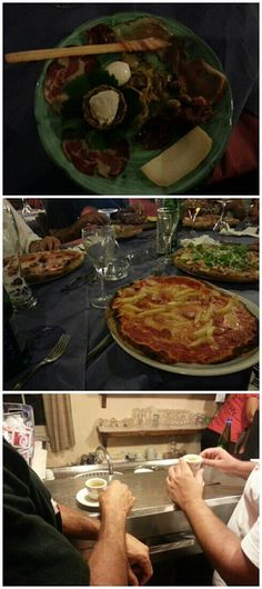 Indulge in the typical and traditional dinner among friends in TROPEA! Local starter, pizza and coffee!!!
