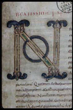 Evangéliaire, Ms 431, f. 1.