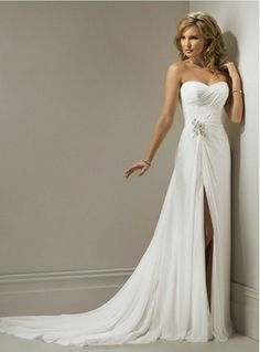 high leg slit wedding dress 15 Wedding Dress Details You Will Fall In Love With