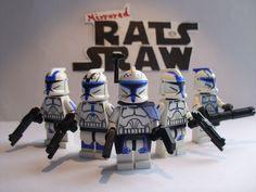 Lego Star Wars minifigures - Clone Custom Troopers - Captain Rex's 501st #LEGO