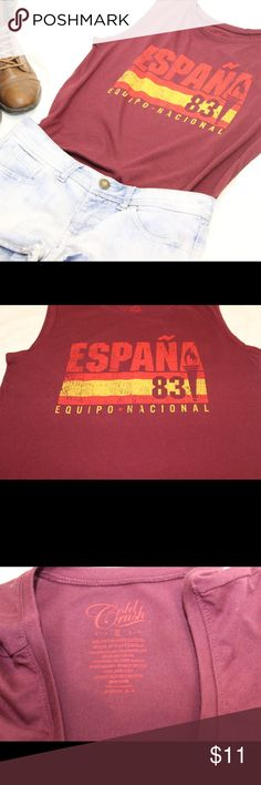 Spain Soccer Shirt Spain team soccer shirt for the ultimate Spain soccer fan, deep burgundy color with Spain logo in spanish💃🏻, brand new with tags Tops Tees - Short Sleeve