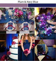 Wedding Ideas with Rustic Shades of Plum #navyblueweddingideas #weddingcolors #tulleandchantilly