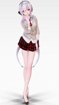 Tda School Uniform Haku v1.00 Dl by sceneryQAQ