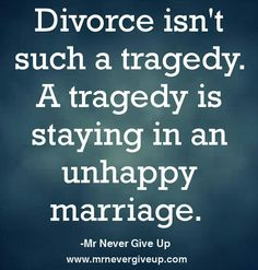 When you re unhappily married