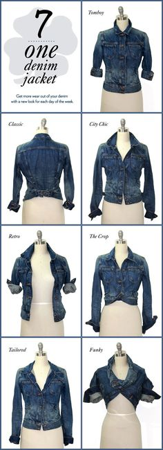 How to Style a Denim Jacket find more women fashion on misspool.com