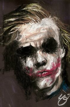 Love this painting of Ledger's Joker!