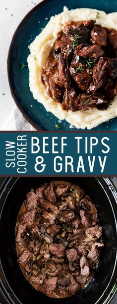 Gravy Slow Cooker A delicious slow cooker beef tips and gravy. A tasty onion gravy that is absolutely delicious.A delicious slow cooker beef tips and gravy. A tasty onion gravy that is absolutely delicious. Crockpot Dishes, Crock Pot Slow Cooker, Crock Pot Cooking, Beef Dishes, Slow Cooker Recipes, Cooking Recipes, Crockpot Beef Recipes, Dinner Crockpot, Slow Cooker Steak Tips