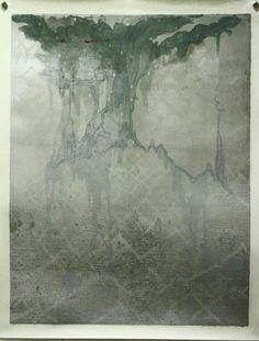 「snowwhite」 65×50cm lithograph,aruminiumleaf  ed.10 2009