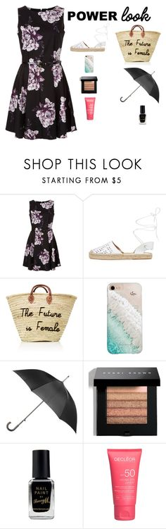 """POWER LOOK"" by sofiy112 ❤ liked on Polyvore featuring Maiden Lane, Gray Malin, Totes, Bobbi Brown Cosmetics and Barry M"