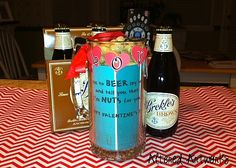 Altered Artworks: Last Minute Valentine's Gift for Your Man Valentines Gifts For Him, Valentines Day, Your Man, Last Minute, Vodka Bottle, Artworks, Man Gifts, Peanuts, Anniversary