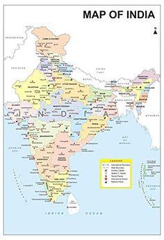 india map beautiful on fine art paper 13x19