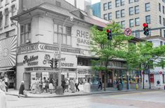 Rhea's Bakery as it was in 1964 at the corner of 5th Avenue and Market St
