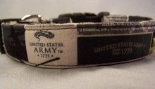 U.S. Army Emblem Licensed Fabric Dog Collar